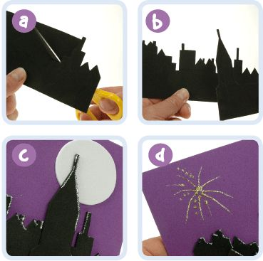 Fireworks Picture | Craft Ideas at Patticrafts