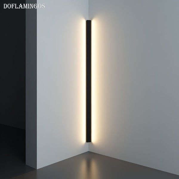 2019 Modern Corner Led Wall Lamp Minimalist Indoor Light Fixture Wall Sconces Stair 100cm In 2020 Led Wall Lamp Indoor Lighting Fixtures Modern Light Fixtures Bedroom