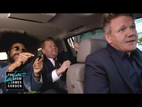 It's 'Carpool Swearing' As Gordon Ramsay Drives James Corden To The Airport!