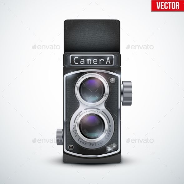 Vintage Twin Lens Reflex Camera