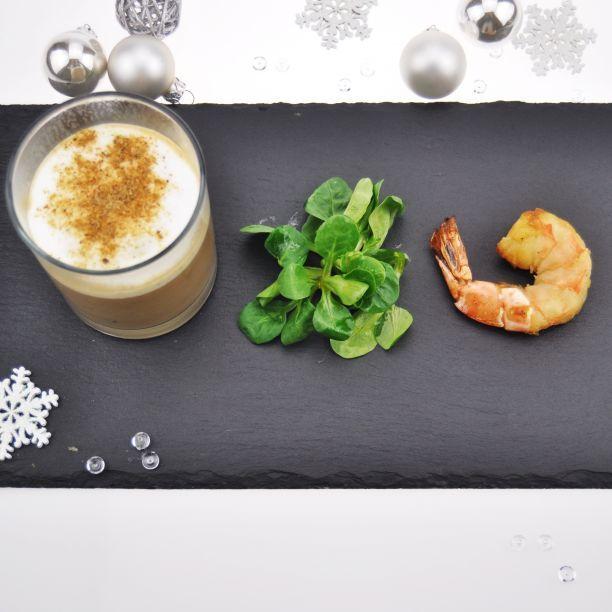 Cappuccino von der Marone mit Black-Tiger Garnele