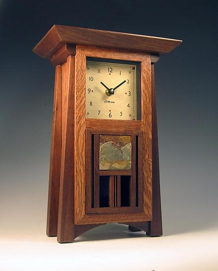 Craftsman mantle clock, by Gary Knapp.