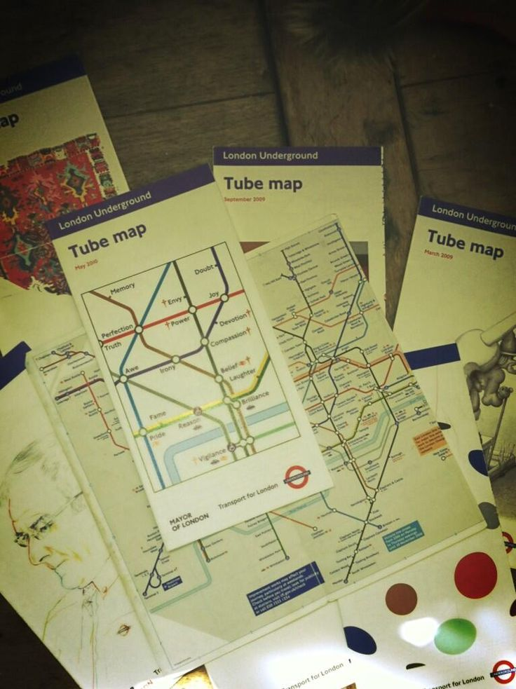 Via TheMiddleClash Collection of Tube Maps 137