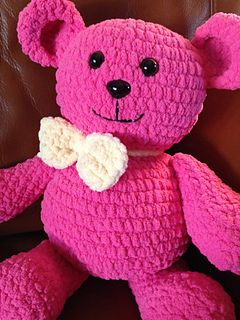 Blanket Bear is a Super soft Teddy made with Bernat Blanket Yarn.