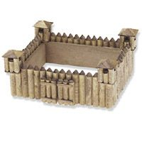 Wooden Fort Model Kit. This is a wood model craft kit that requires assembly. This is from our low cost wood model kit line, which is popular with camps and schools but also great for individual crafter. You really need to see the web page for full description and size. From www.KwikCrafts.com . Link to this item and similar wood model kits in the online store http://kwikcrafts.com/crafts/category/Wood-Model-Kits.html
