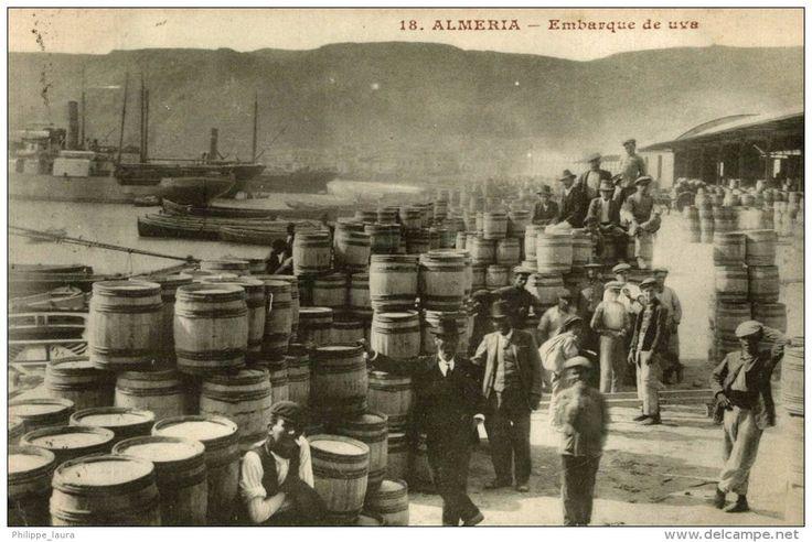 ALMERIA. EMBARQUE DE UVA. - 1912