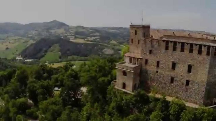 Oltrepò pavese  drone air footage Castles and vinneyards