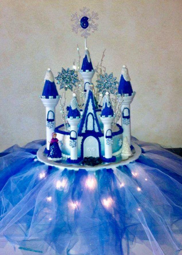 Disney Frozen Castle Cake