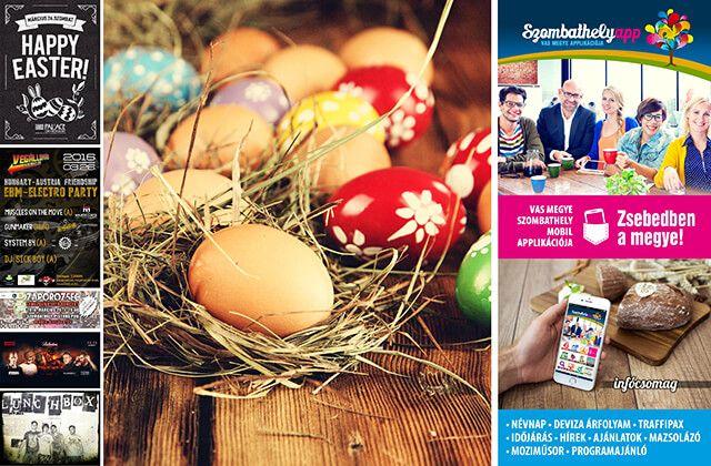 Kellemes húsvéti ünnepeket kívánunk! Zsebedben a húsvéti infócsomag! - (03. 26-28.) - Szombathely app: Vas megye és Szombathely mobil alkalmazása!