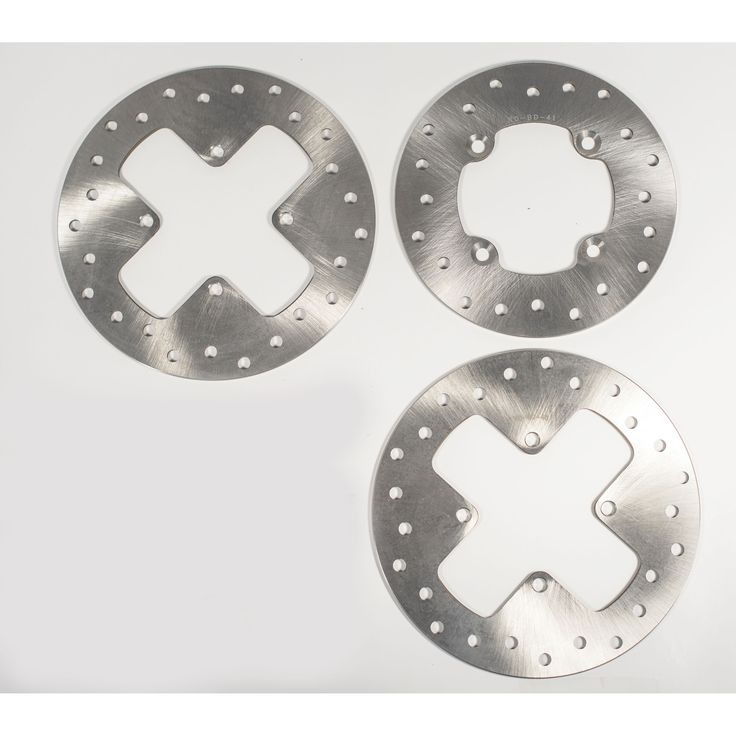 2007 2008 2009 2010 2011 2012 Can-Am Outlander 400 Front and Rear Brake Rotors, Silver stainless steel