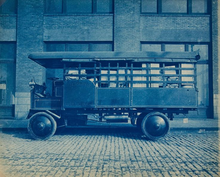 vintage everyday: Jenkins Flour and Groceries Delivery Truck, ca. 1909
