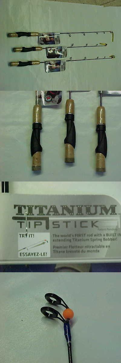 Ice Fishing Rods 179947: 3 New Titanium Tip Stick Bearver Dam 26 Ml 29 M Action Ice Fishing Rods BUY IT NOW ONLY: $59.95