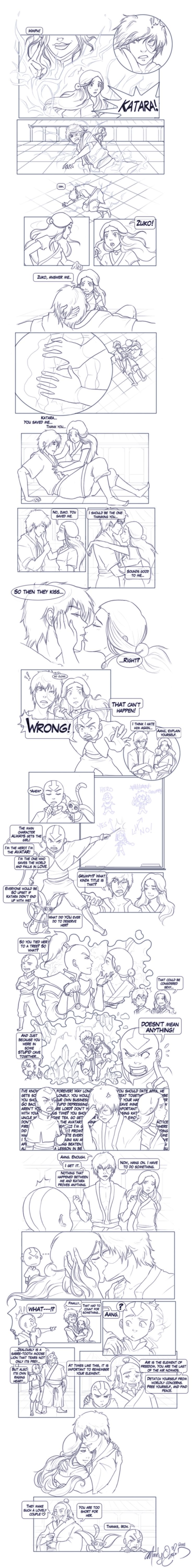 """This is hilarious! The End - Comic by Mandy-Mo.deviantart.com on @deviantART """"You should date Appa."""""""