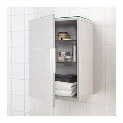 2x Voor boven de wasmachine GODMORGON Bovenkast met 1 deur, lichtgrijs - 40x32x58 cm - IKEA