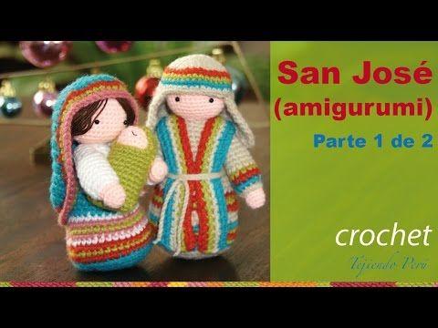 San José tejido a crochet (amigurumi) Parte 1 de 2 - YouTube