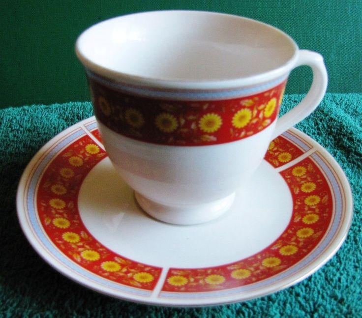 Germany Fine porcelain DISHWASHER SAFE Tea Cofee Cup Saucer flowers #DISHWASHERSAFE
