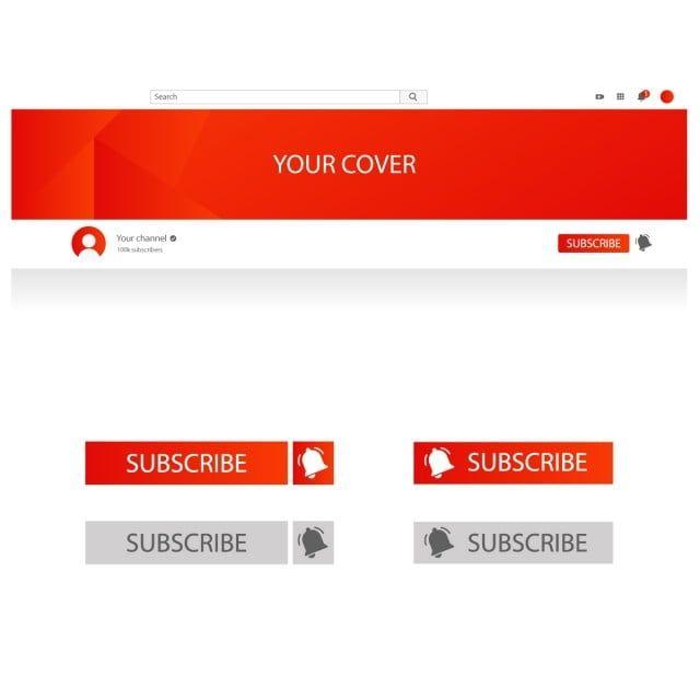 قالب غلاف يوتيوب زر الاشتراك والجرس الفضاء الإلكتروني توضيح أيقونة Png والمتجهات للتحميل مجانا Cover Template Cover Channel E