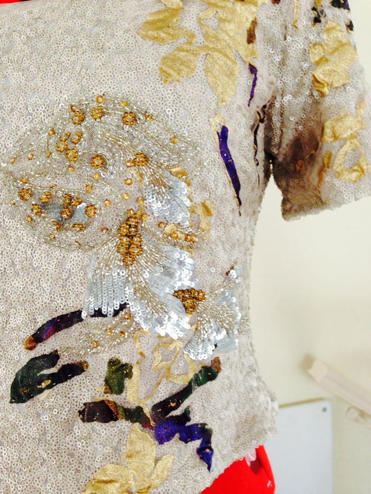 Hand beaded and sequin blouse #2014