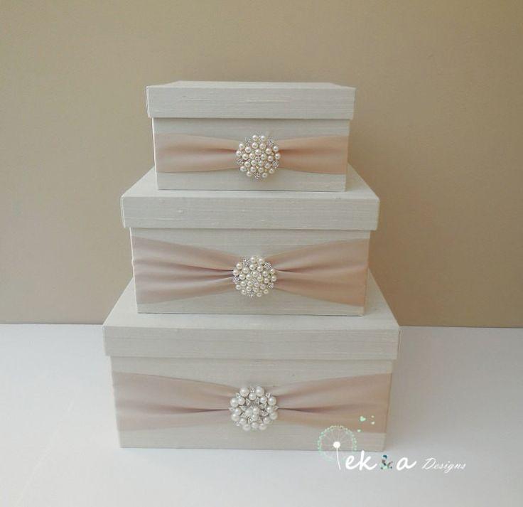 Wedding card box holder / wedding money box / - DIY Place Card Ideas
