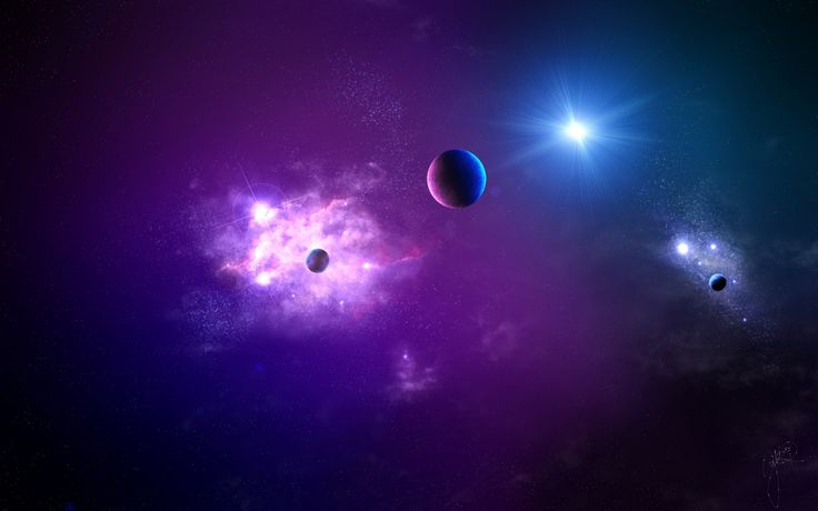 1920x1200 Обои космос, планета, свет, галактика