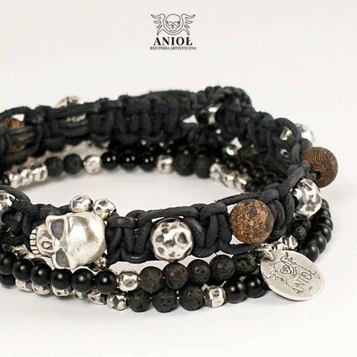 SKULL BRACELET Set of the 2 Bracelets Handmade 100% Sterling