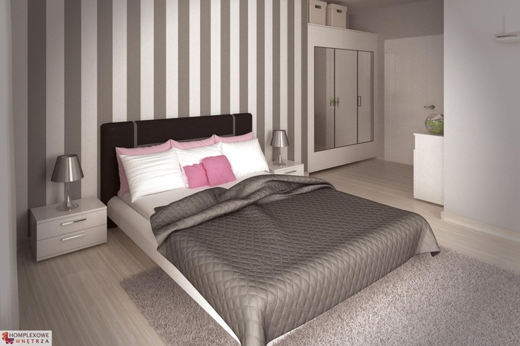 Aranżacja sypialni wystrój nowoczesny w kolorach biały, różowy, szary - projekt wnętrza o id 6634530 w Homplex.pl, Zestaw wyposażenia za 18626 zł ($5820)