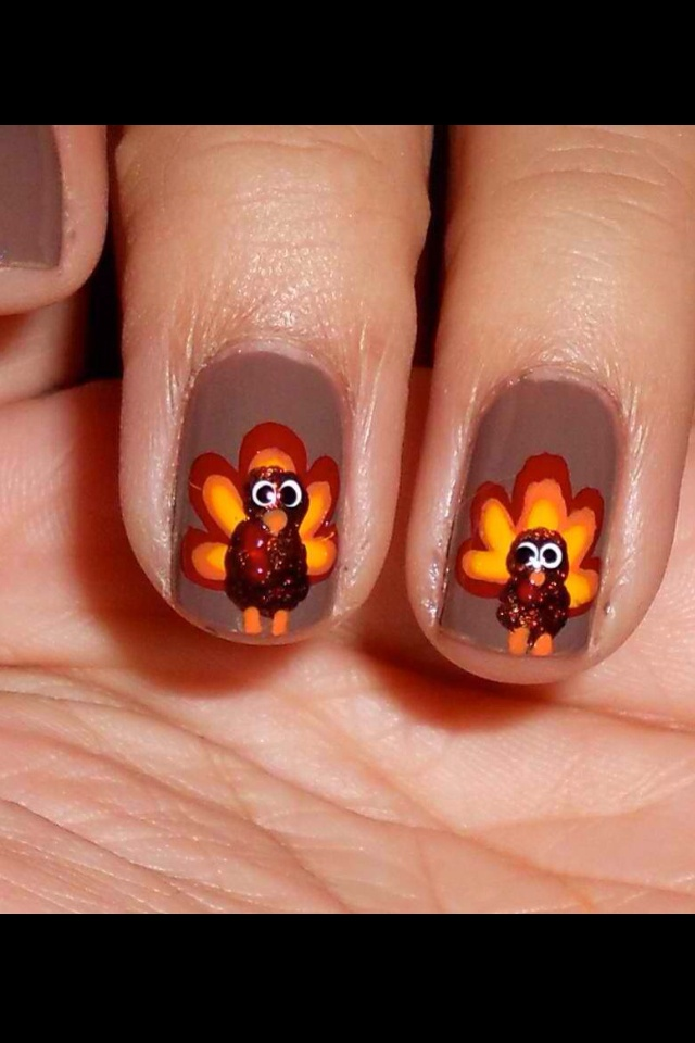 72 Best Thanksgiving Nail Designs Images On Pinterest
