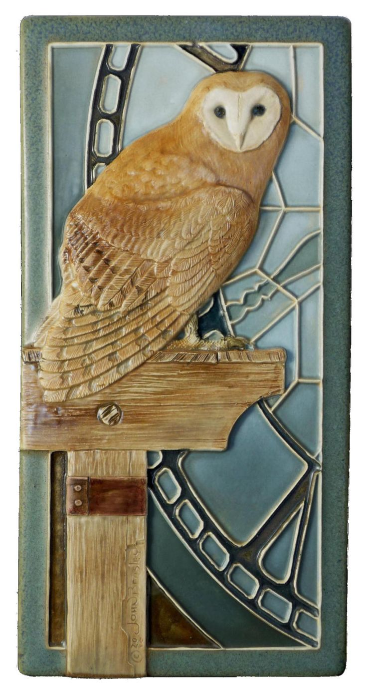 12 best ceramic sculpture images on pinterest sculpture cold art tile ceramic tile sculpted tile animal art owl barn owl dailygadgetfo Image collections