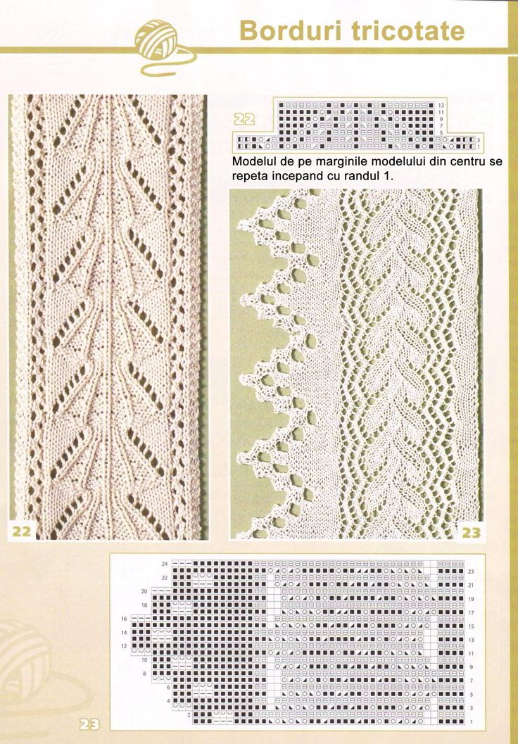leaf lace edging knit