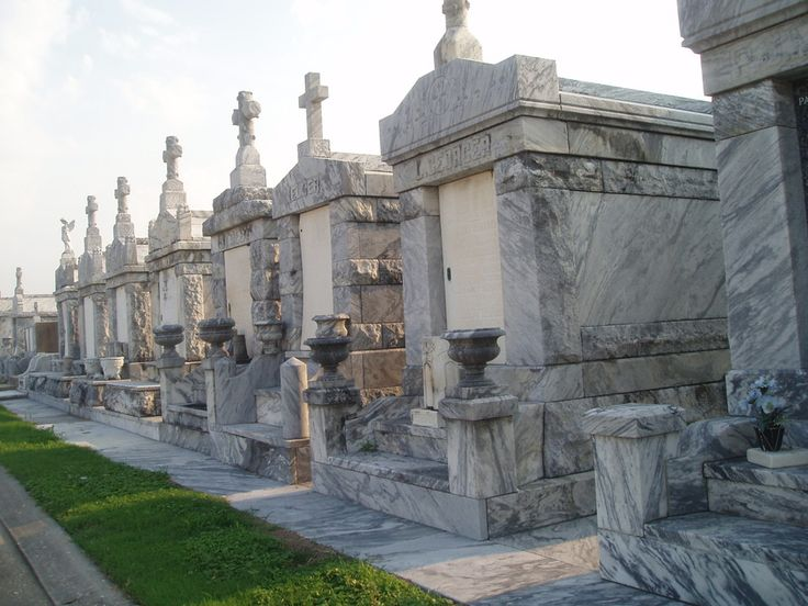 New Orleans Cemetary - because New Orleans is below sea level, the graves have to be above ground