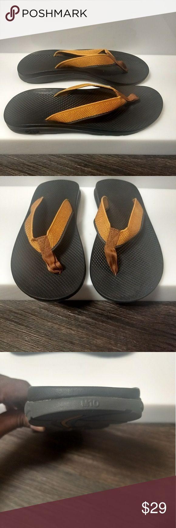 Chaco Flip Flops Gold/Orange Chaco Shoes Sandals & Flip-Flops