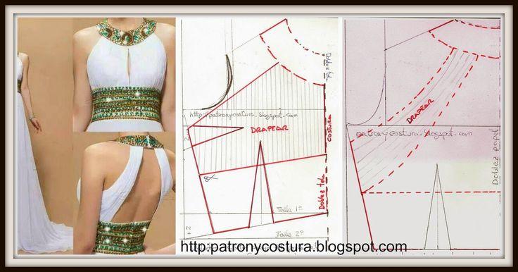Tema 53 Vestido cuerpo drapeado (PATRÓN Y COSTURA)