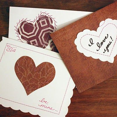 The Sassy Pepper: TUTORIAL Stitches of Love Valentines Cards... (and a cheat for non-sewers)