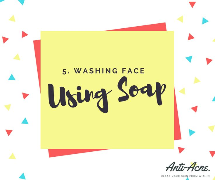 Number 5... Using soap to wash face. Some soaps can be harsh on your skin and because the skin on your face is sensitive it can cause both irritation and remove essential oils causing the body to produce more than usual. Helpful Tip: Remember when trying new cleansers, moisturisers and creams you are not doing much for the current pimples when your treat it… your helping prevents the next round.
