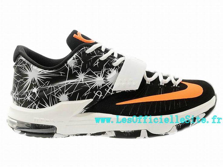 Officiel Nike KD iD - Chaussures Nike Baskets Sportswear Pas Cher Pour Homme  Noir/Gris-Orange-Blanc