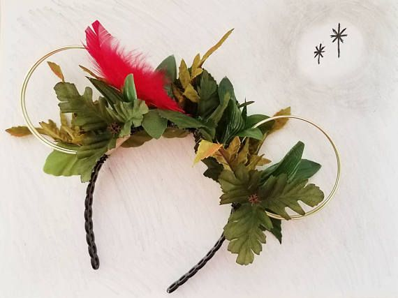 Check out these Peter Pan Ears  in my Etsy shop Always Magical Ears: https://www.etsy.com/listing/534415191/peter-pan-ears-wire-mouse-ears-minnie