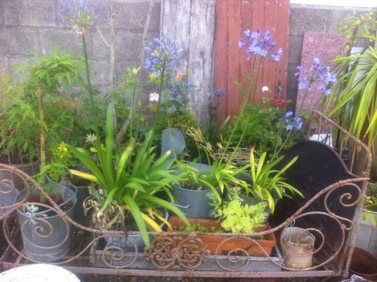Grand Lit En Fer Forg D Coration Brocante Jardin