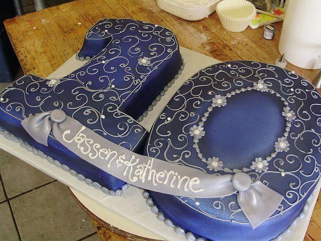 Sapphire Anniversary PARTY IDEA   elaborate gold cake   Sapphire Anniversary ...   Great Wedding & Part ...