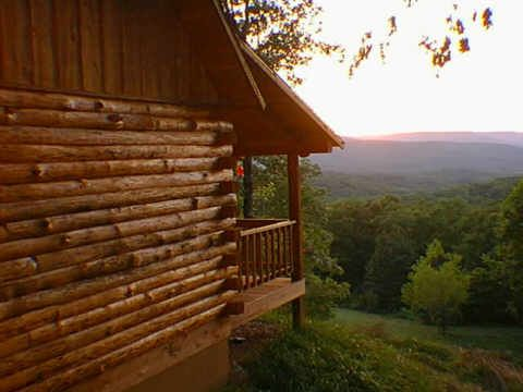 Cabins in the Ozarks, we would have to get more than one cabin but they are close enough to walk between them..