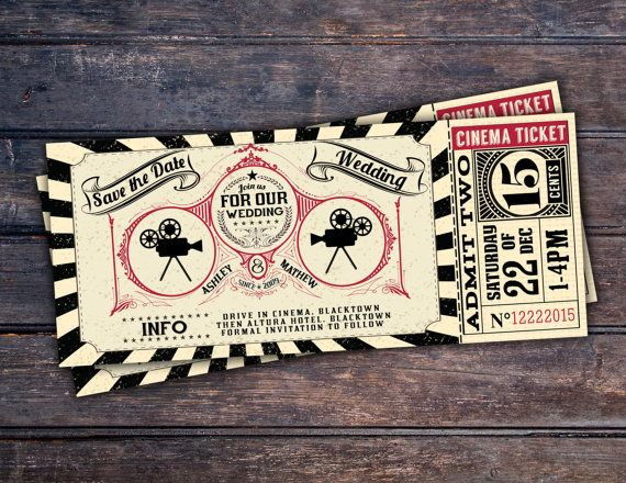 Arte DecoVintage Retro guardar la fecha billete por LyonsPrints