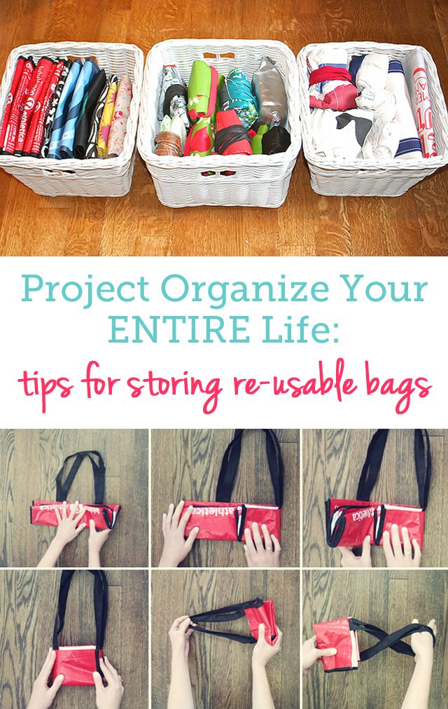 OH, I love this! great tips for neatly storing all my re-usable bags