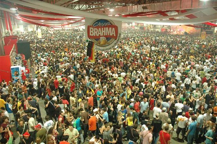 Oktoberfest Blumenau in Blumenau, Brazil. The largest German party in Brazil was first held in 1984.