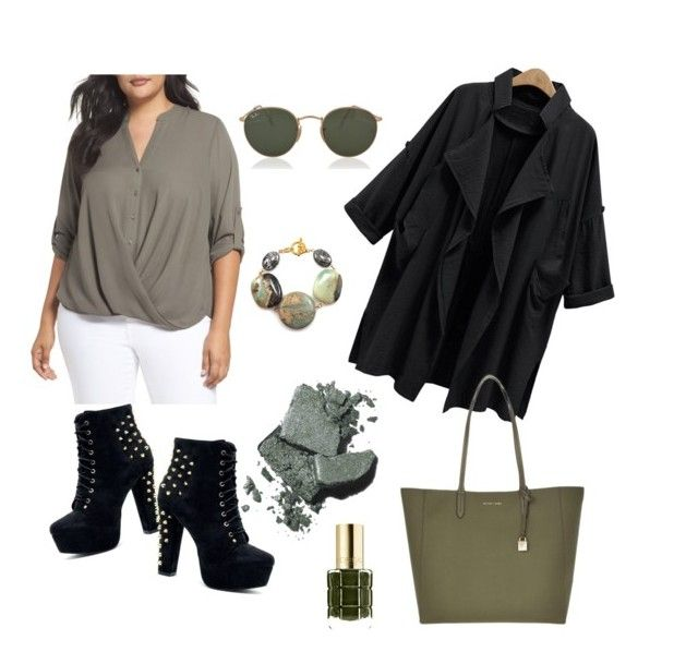 """""""osz"""" by lillus-lako-ll on Polyvore featuring London Times, Michael Kors, Ray-Ban, L'Oréal Paris, Bobbi Brown Cosmetics and plus size clothing"""