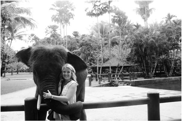 Ridding Elephant in Bali