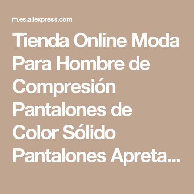 Tienda Online Moda Para Hombre de Compresión Pantalones de Color Sólido Pantalones Apretados Atractivos de Poca altura Elástico Spandex Medias Hombres Negro Hombres Hombres de Corredores | Aliexpress móvil
