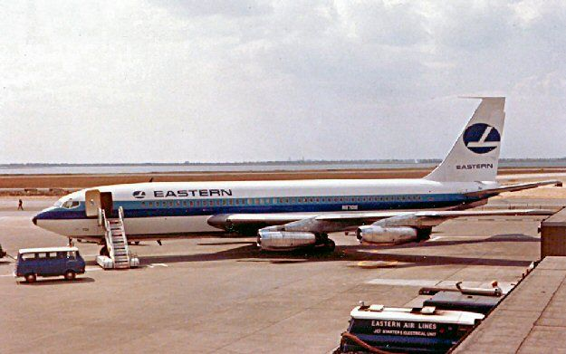 Eastern Air Lines Boeing 720, rare to just have the symbol on the tail and not the hockey stripes.