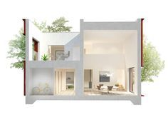Swedes want high ceilings, terraces, and lots of natural light. -- Architects Tham & Videgard translated Hemnet's data—which revealed that Swedes want 1½ floors, a balcony or terrace, an open kitchen, high ceilings, white walls, space, and light—into plans for a 300,000 euro ($333,000) house measuring 120 square meters (1,115 square feet by their calculations; 1,292 square feet by mine). -- More pics on link...