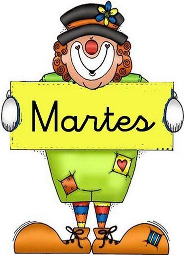 Maestra de Infantil: Carteles de los días de la semana. Payasos.