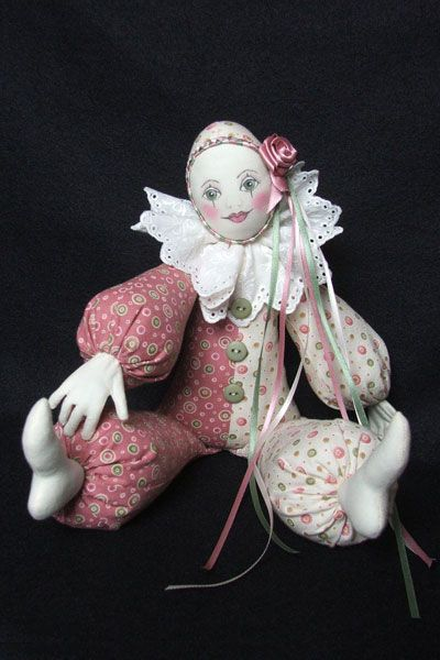 "Dolls- Katkins Designs Shop- Katkins Designs- Katkins Designs Shop- ""Pierrette"" pattern- - Cloth Doll, kits, patterns, accessories, pens and..."