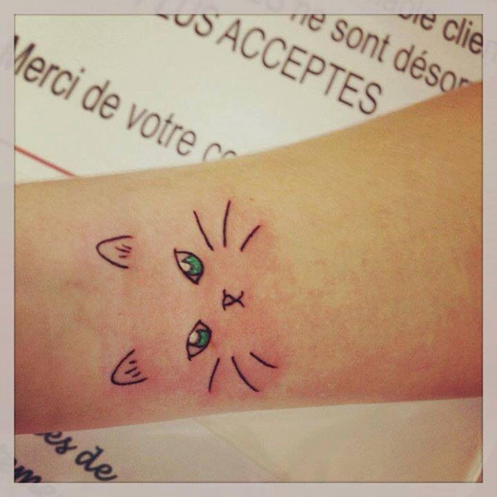 Simple Cat Face Tattoo Images amp Pictures Becuo